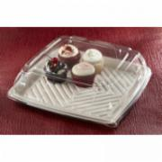 Sabert Clear Lid for Square Pulp Platter - Size 10.25in