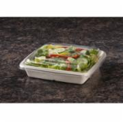 Sabert TerraPac™ PCR Lid, 9 Inch Length x 9 Inch Width x 1.02 Inch Height, Clear, PET